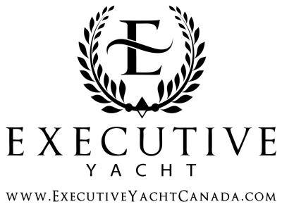 Executive Yacht black logo with website