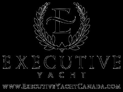 Executive Yacht black logo with website